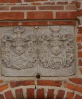 Wappen über der Seitentür