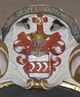 Wappen über dem Epitaph